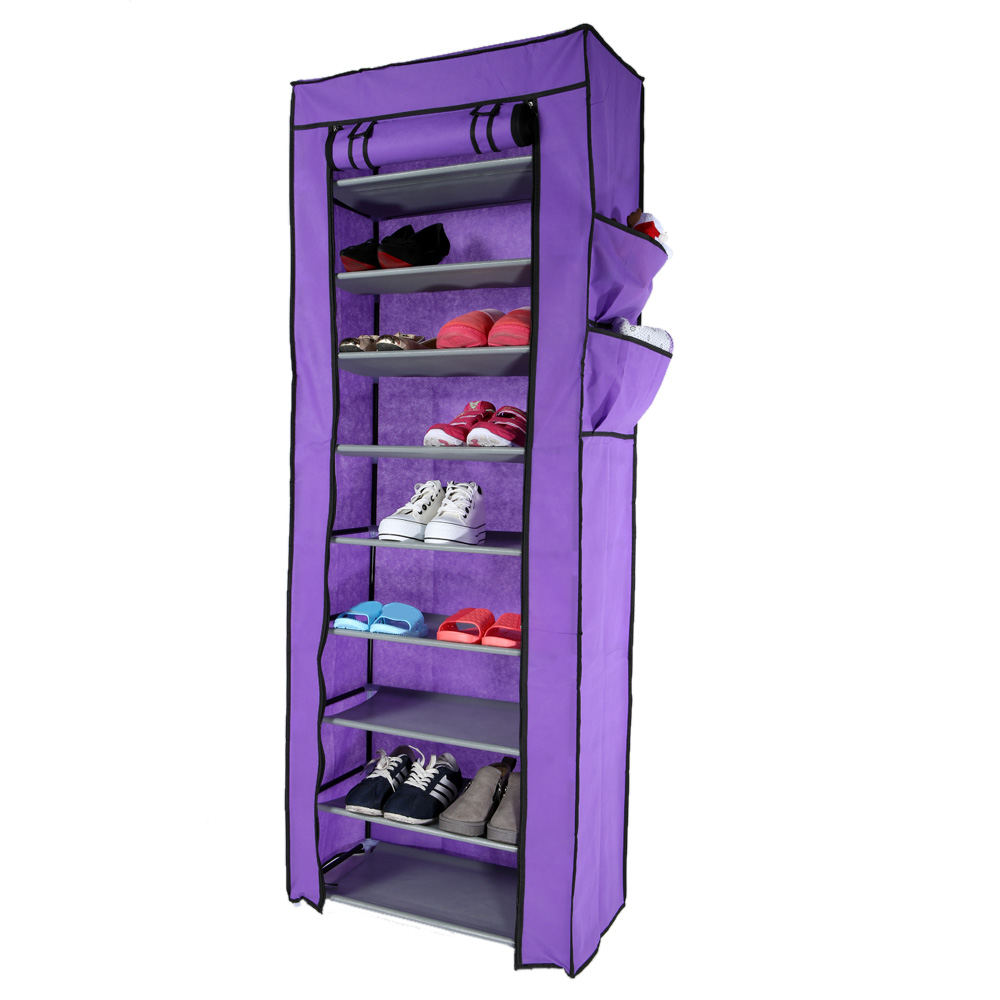 Shoe cabinets four drawer 27 pairs - Multi Function Compositional 10 Tier 27 Pair Tower Shoe Rack Nonwoven Dustproof Shoes Home Cabinet