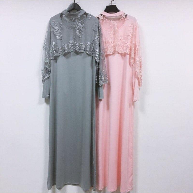 Baru 2 Pcs Set Gamis Abaya Dubai Turki Islam Bordir Selendang Baju Muslim Kaftan Abaya Untuk Wanita Qatar Kaftan Gaun Pakaian Pakaian Islamic Aliexpress