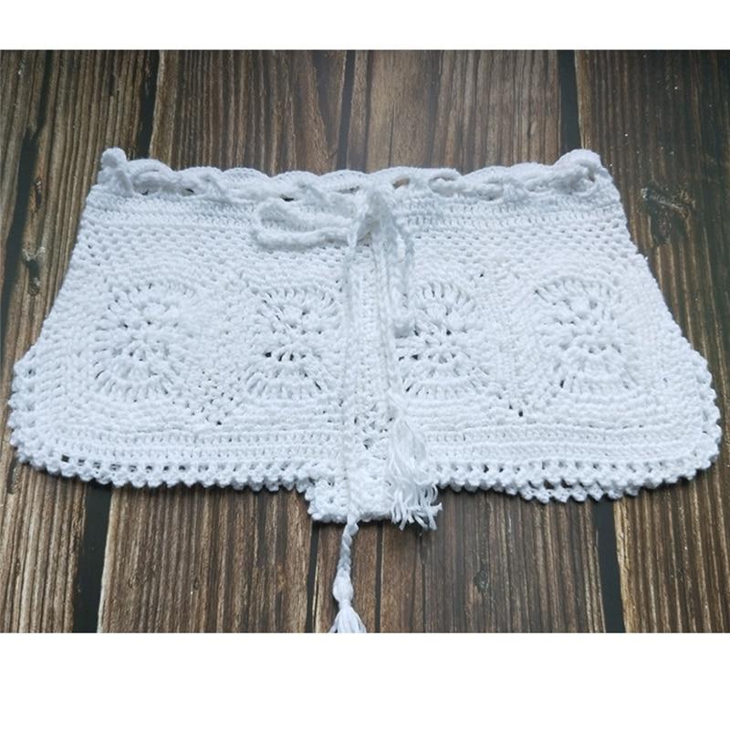 Boho Knit Crochet Beach Shorts 10