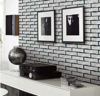 3D Vintage Classic White Brick Wallpaper For Living Room Kitchen Bedroom
