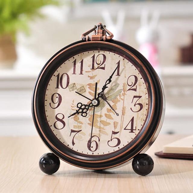 Creative Cute Cartoon Bell Alarm Clock Small Bedside Mechanical Alarm Vintage  Table Clocks Despertador Electronic Clock