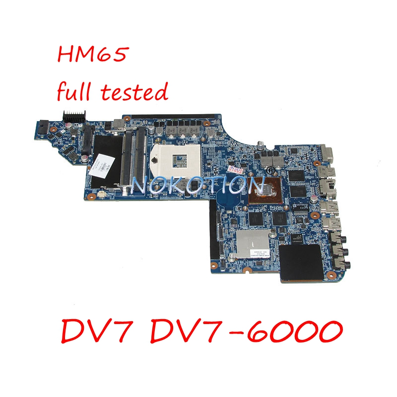 NOKOTION 639391-001 Main board For HP Pavilion DV7 DV7-6000 laptop motherboard HM65 DDR3 HD 6770M video card full tested 659095 001 laptop motherboard for hp dv7 6000 intel hm65 ddr3 ati hd 6770m graphics mainboard full tested