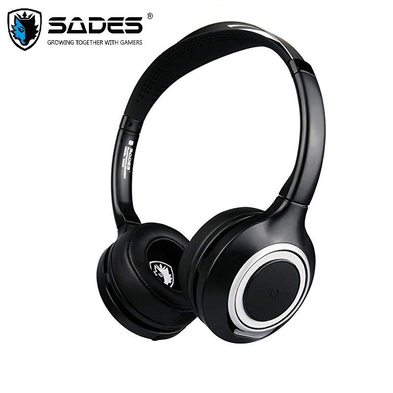 SADES D805 casque d'écoute sans fil Bluetooth écouteurs réduction du bruit pour téléphone portable/Skype