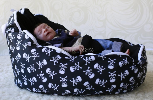 Amazing Free shipping Skull bone Newborn Babies beanbag Chair Kids Toddler Baby Bean Bags Seat Chair Sofa Style - Simple Elegant big bean bags for adults