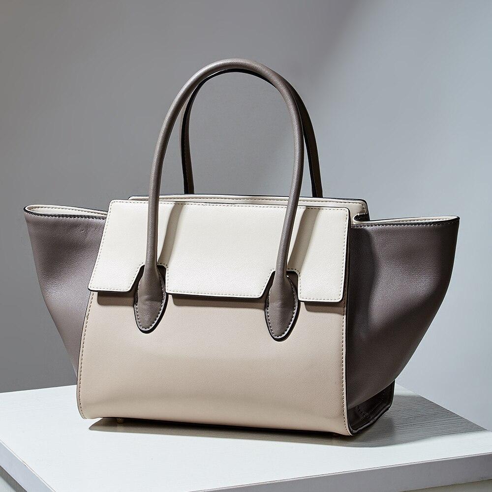 Femmes marque en cuir véritable sacs à bandoulière ligne blanche décoration seau sac de luxe sac à main femmes sacs épaule de luxe