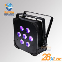 28X Lot Free Shipping NEW TINT 5 V7 5in1 RGBAW Wireless LED Slim Par Can,American DJ Par Can For Event,Studio Party