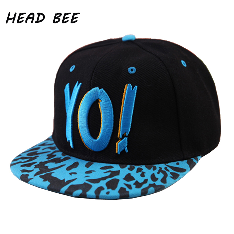 [HEAD BEE] 2018 Brand Hip Hop Cap Children Cotton Snapbacks Hat Letters Embroidery Baseball Cap Gravity Falls for Boy and Girl trendy hip hop style leopard head rivets baseball hat cap red gold
