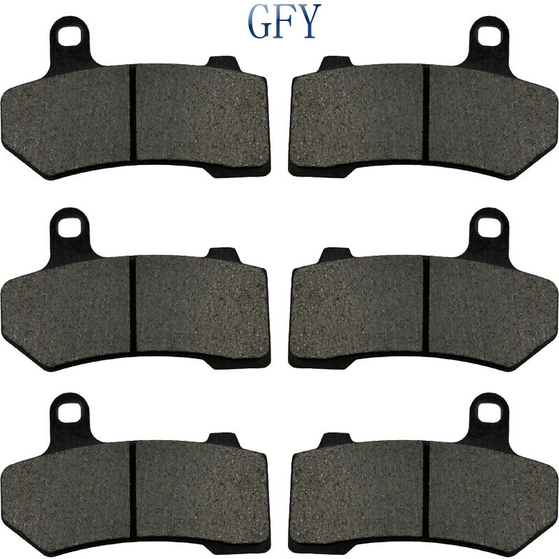 Motorcycle Front Rear Brake Pads Disks For Harley Davidson Road King Street Road Glide Electra Glide FLHR FLHX FLTR 2008-2017 14 3 pairs motorcycle brake pad for harley davidson flhrc road king classic 2008 2014 black brake disc pad