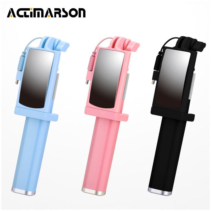 Actimarson Mini Portable Selfie Stick con cable extensible - Cámara y foto