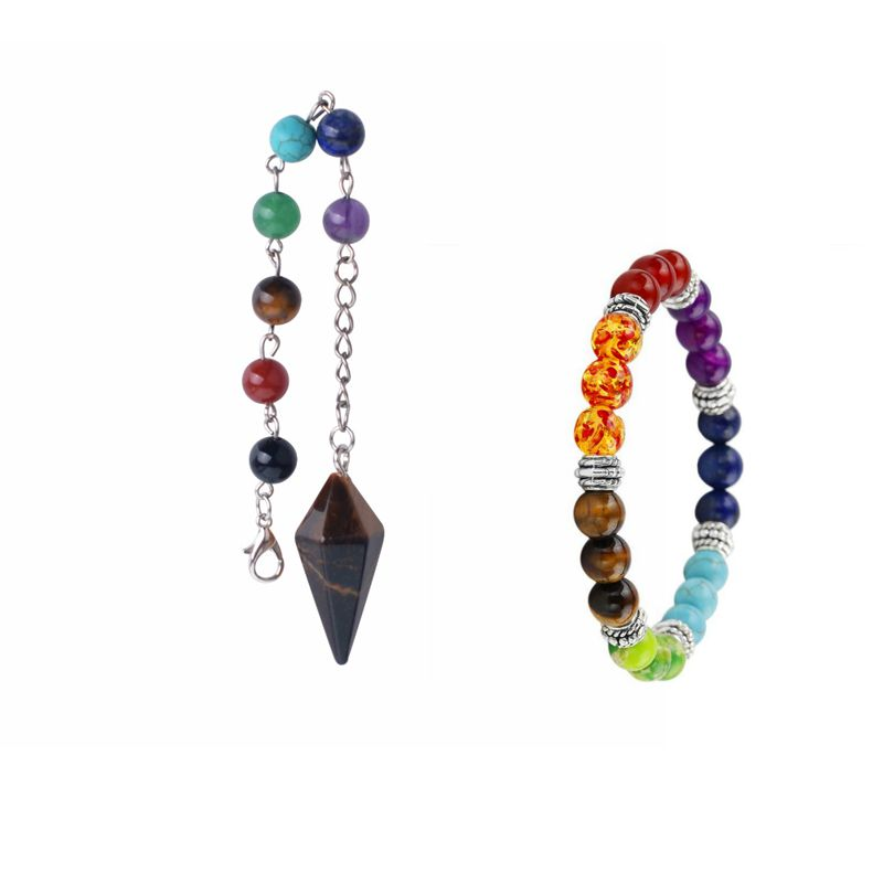 7 Чакра лечение более Hypnold Подвески Йога Натуральный камень Шарм Подвеска Цепочки и ожерелья Браслет Для женщин рождественские подарки Lol