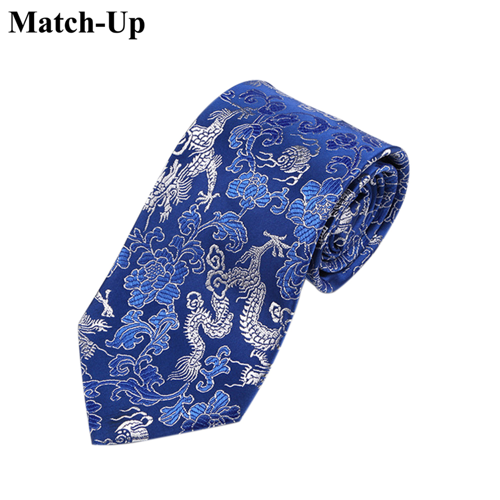 2016 new Chinese style characteristics gifts yunjin dragon totem tie 9