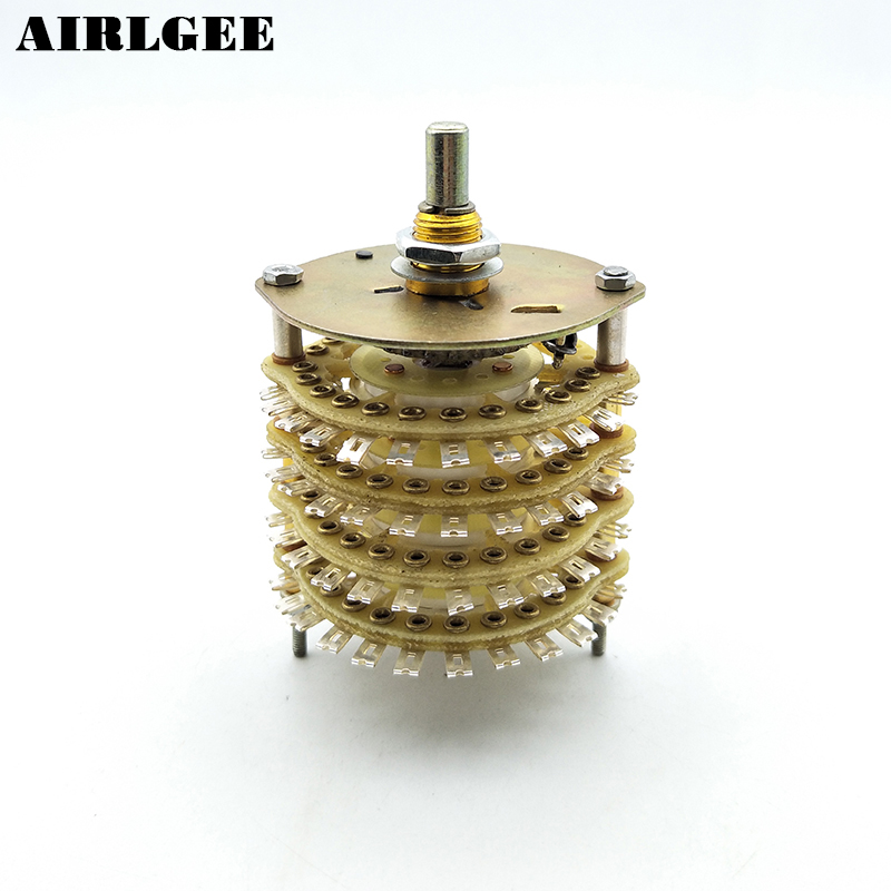 6mm Dia Shaft 4P16T 4 Pole 16 Position Band Channel Selector Rotary Switch uxcell kcx2 6 10mm mounting hole dia 2p6t 2 pole 5 way two decks 14pin band channael rotary switch selector