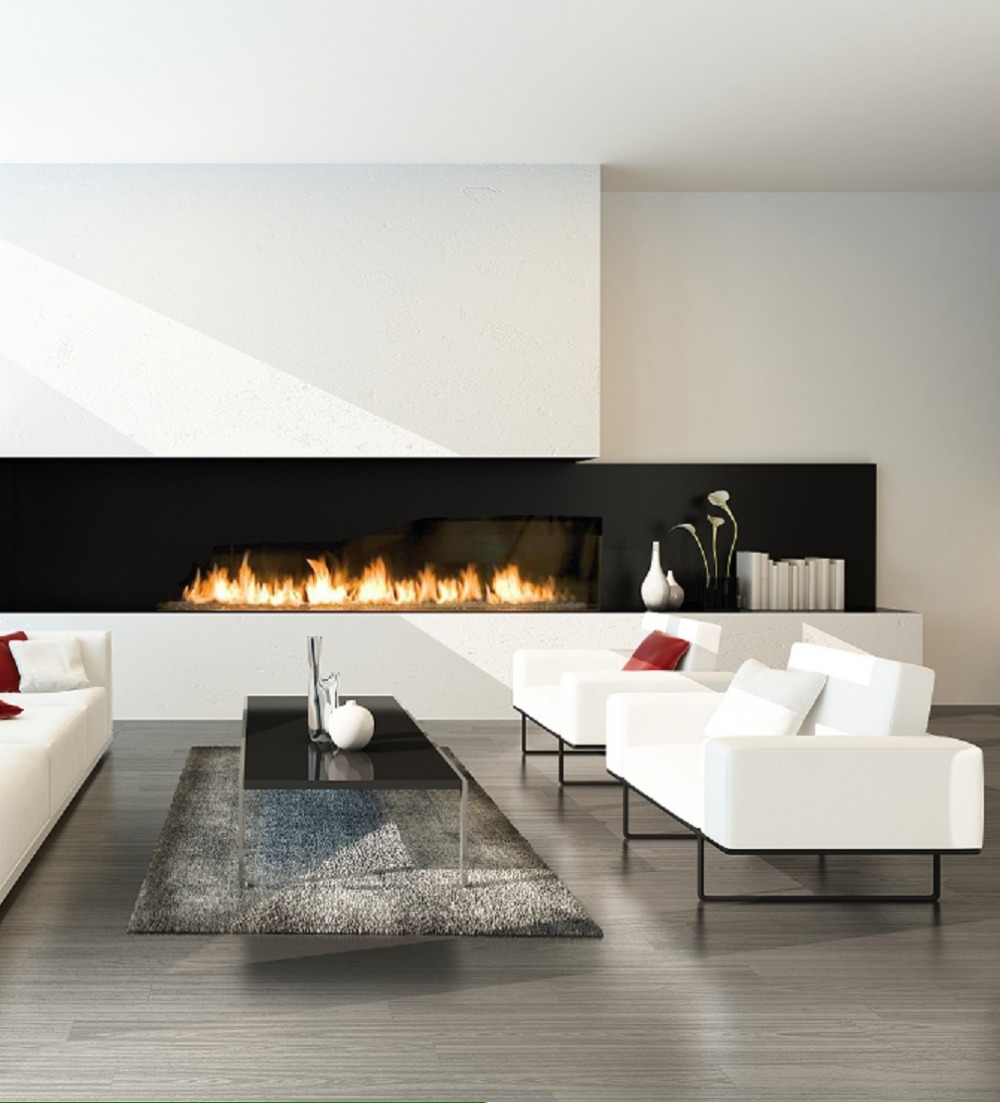 Inno Living Fire 48 Inch Automatic Remote Bio Ethanol Fuel Fireplace