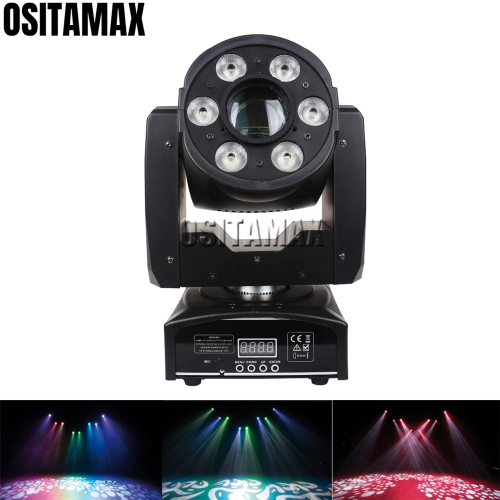 OSITAMAX A 1PC Electronic focus control Lyre Spot LED 30w & 4X8W RGBW Baby Wash Light 2IN1 Flow Effect LED DJ Equipment