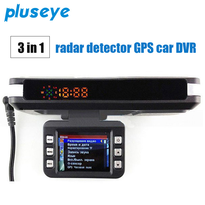 3 in 1 Car DVR Radar Detector Built-in GPS Logger HD 140 Degree Angle Russian Language Video Logger Dash Camera driver Recorder
