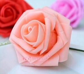 500 шт. X(6 см) один Пена розовыми цветами стволовых в 12 различных Цвета для выбора свадебные цветы.* по EMS - Цвет: light pink
