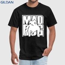 9293764e GILDAN Funny Casual T-Shirt Cotton Plus Size S-3xl Mad Dog Men T Shirt  Printed