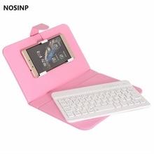 Nosinp Конг Цин Конг металлический корпус Беспроводной Bluetooth универсальный клавиатура кобура для 5.5 дюймов смартфон Бесплатная доставка