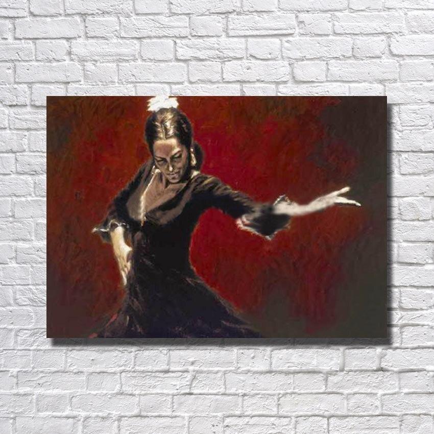 25 55 35 De Réduction Peinture à L Huile Espagnole Salon Mur Photo Grande Toile Peintures Femmes Mur Art Décor à La Maison œuvre Pas Encadré In