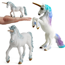 unicorn Toys & hobbies anime dolls model kit action figure toys set plastic animals educational for children boys