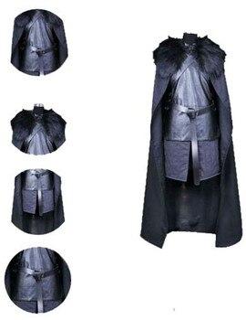 Traje de Halloween del traje fiesta Juego de Tronos Jon Nieve Caballeros...