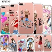 Новое поступление Модный чехол для телефона для девочек для Funda iPhone 8 7 6 6S Plus X XS MAX XR 10 мягкий силиконовый чехол Etui