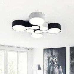 Montowane na powierzchni nowoczesne lampy sufitowe led do kuchni salon kręgle klosz do lampy kolor czarny Home Decor nabłyszczania de teto|Oświetlenie sufitowe|Lampy i oświetlenie -