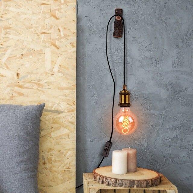 DIY Pendant Lights Vintage Retro Hanglamp Led Pendant lamp With plug for living room bedroom kitchen luminaire light fixtures