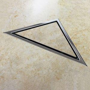 Image 5 - Recentemente Nascosta Tipo Triangolo Piastrelle Inserto di Scarico a Pavimento Griglie di Scarico della Doccia SUS304 In Acciaio Inox Scarico A Pavimento Accessori Per il Bagno