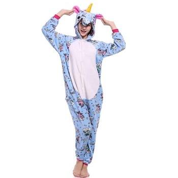 Animal Kigurumi Onesie Adult Men Women Unicorn Sleepwear Pajama Soft Fancy Anime Unicornio Pijima Overall Nightwear Onepiece