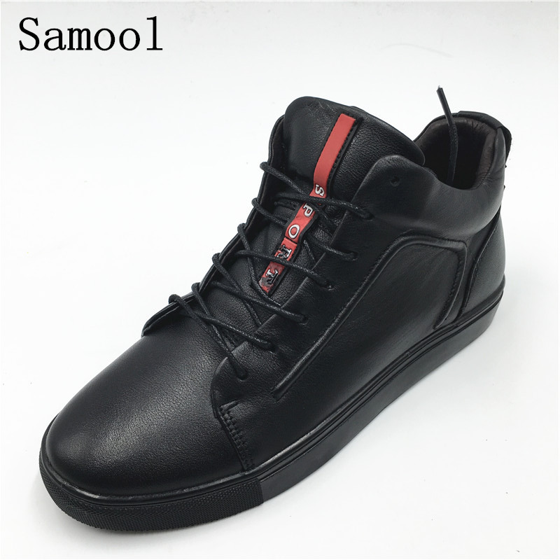 Autumn spring women Casual High Top Shoes Genuine Leather Fashion Lace-up soft Flats Casual Shoes women chaussures femme 1A1 2017 men shoes fashion genuine leather oxfords shoes men s flats lace up men dress shoes spring autumn hombre wedding sapatos