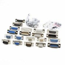 DB15 15 P параллельно Порты и разъёмы 15 штекер Женский провода припоя Разъем VGA адаптер Мател Пластик Potection Shell Обложка