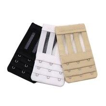 3 шт., удлинитель для бюстгальтера, 3 крючка, эластичный удлинитель для бюстгальтера, застежка для бюстгальтера, крючки для бюстгальтера, регулируемый удлинитель для ремня безопасности