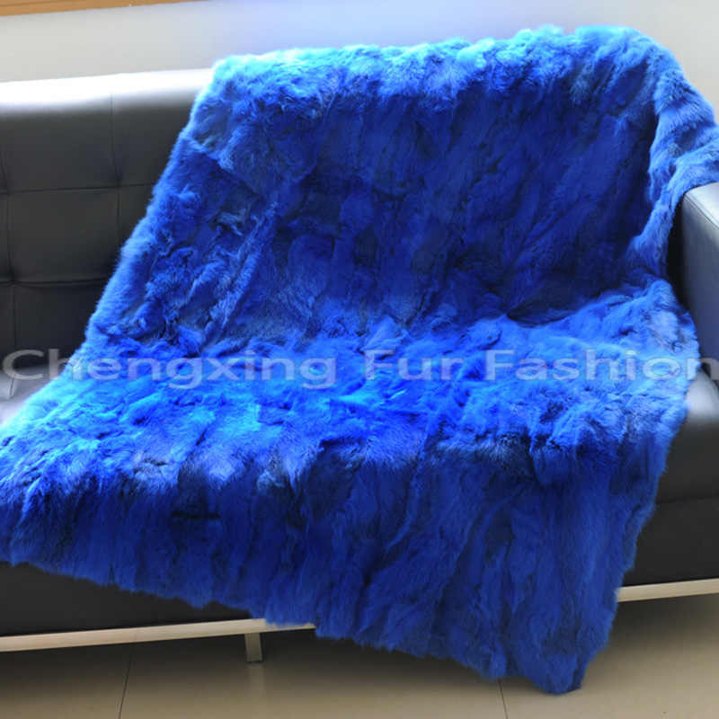 CX-D-11F Patchwork Many Colors Customized Bedding Set Wholesale Real Rabbit  Fur Blanket 9c337c696
