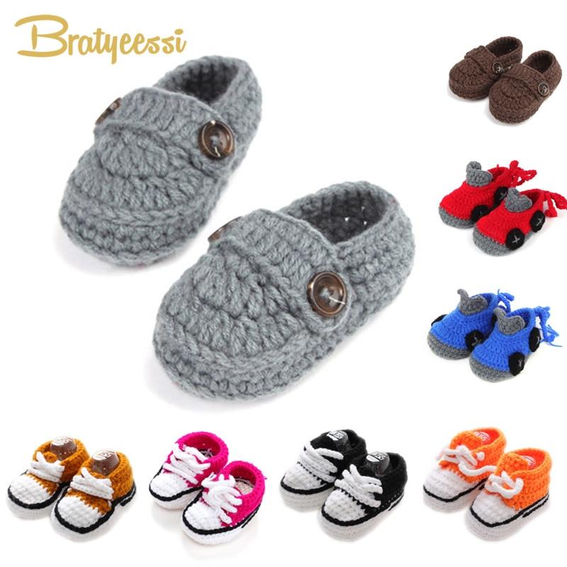 Shoes Crochet Handmade Baby-Boy Booties Boys Fashion Cheap Buckle for 10-Cm Knitting