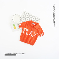 Hot koop ik * s bobo kinderkleding 2017 lente zomer nieuwe merk spelen breien polo shirts korte mouw trui tops