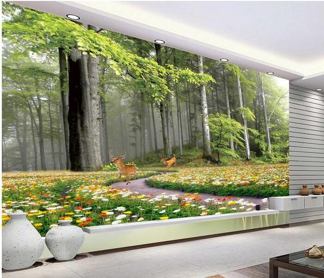3d room wallpaper custom mural non woven wall sticker the 3d tv