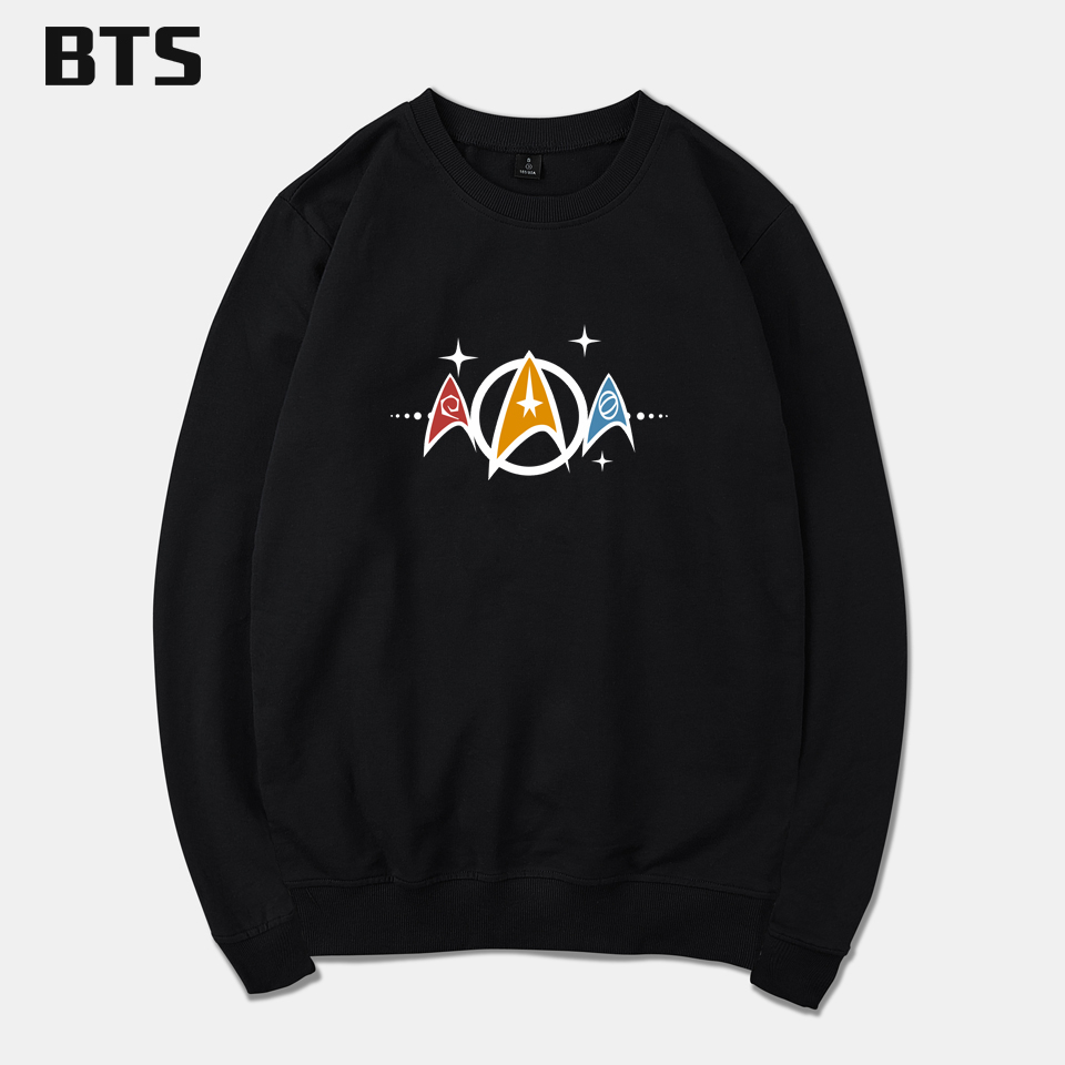 BTS Star Trek Hoodies Men Hipster Sweatshirt Men High Quality Autumn Winter Basic Hoodies Men Sweatshirts Hooded Pullover