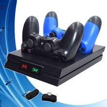 2019 PS 4 Pro Slim PS4 контроллер PS4 аксессуары зарядное устройство для геймпада Беспроводной джойстик зарядная док-станция для sony Dualshock 4