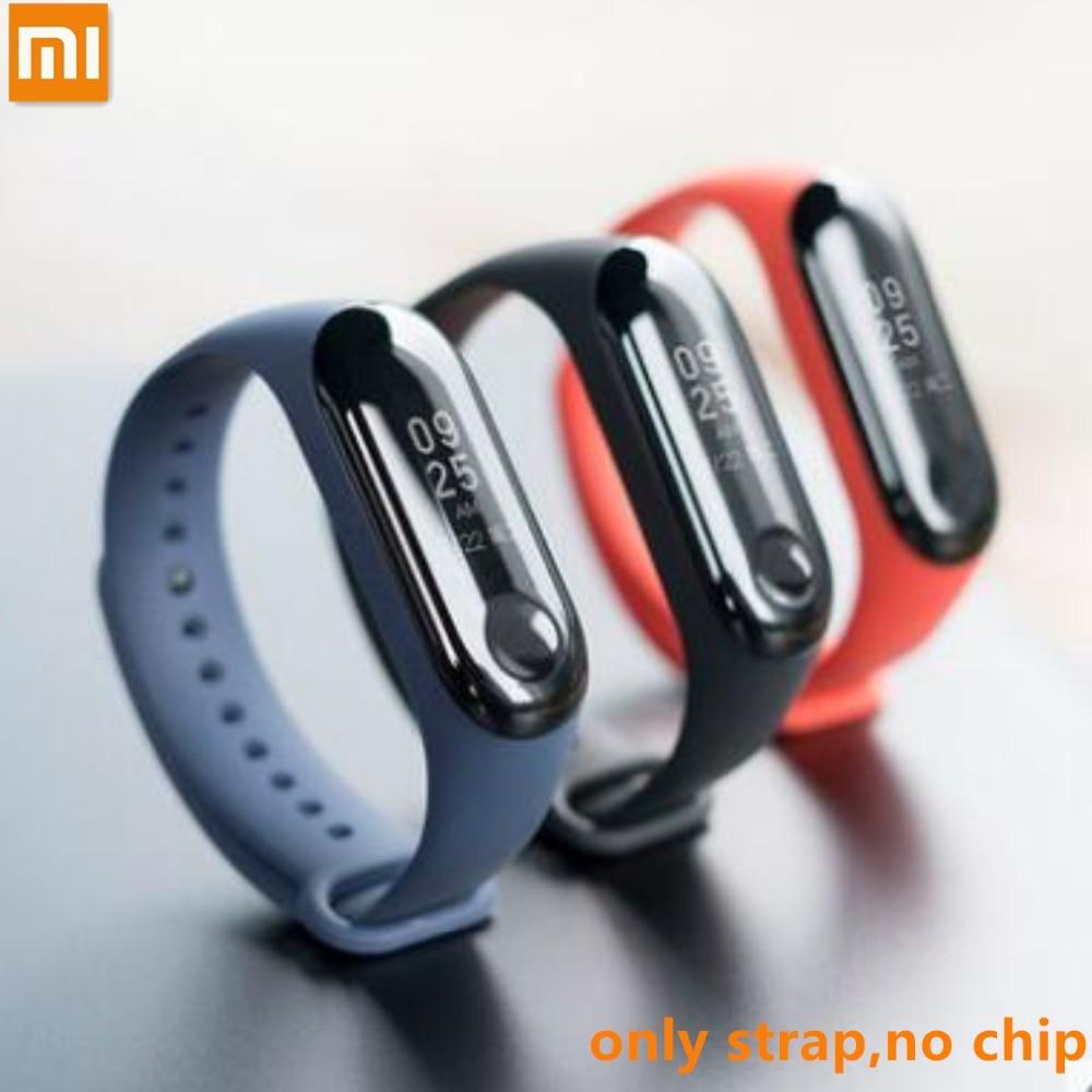 Original Xiaomi Bracelet for Miband 3/4 Sport Strap watch Silicone wrist strap For mi band 3 4 NFC bracelet Miband4 NFC Strap(China)
