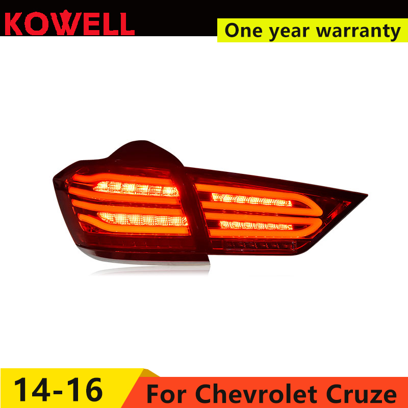 KOWELL Car Styling for Cruze 2015 2016 taillights LED Tail Lamp rear trunk lamp cover drl