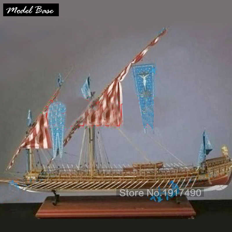 Wooden Ship Models Kits Train Hobby Wooden Model 3d Laser Cut Scale 1/64 LA REAL Spain Laredo Yar No Calais Male Paddle Boat