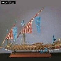 Деревянный корабль комплекты моделей поезд хобби деревянная модель 3d лазерный масштаб 1/64 LA REAL Испания Laredo Yar No Calais мужские весло лодка