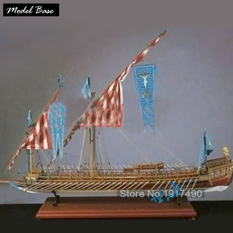 Wooden Ship Models Kits Train Hobby Wooden Model 3d Laser Cut Scale 1/64 LA REAL Spain Laredo Yar No Calais Male Paddle Boat