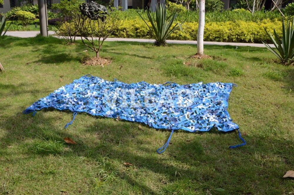 VILEAD 9 M x 9 M (29.5FT x 29.5FT) mer Bleu Numérique Camouflage Filets Militaire Armée Camo Filet Abri Du Soleil De Voiture Abri Parasol Net