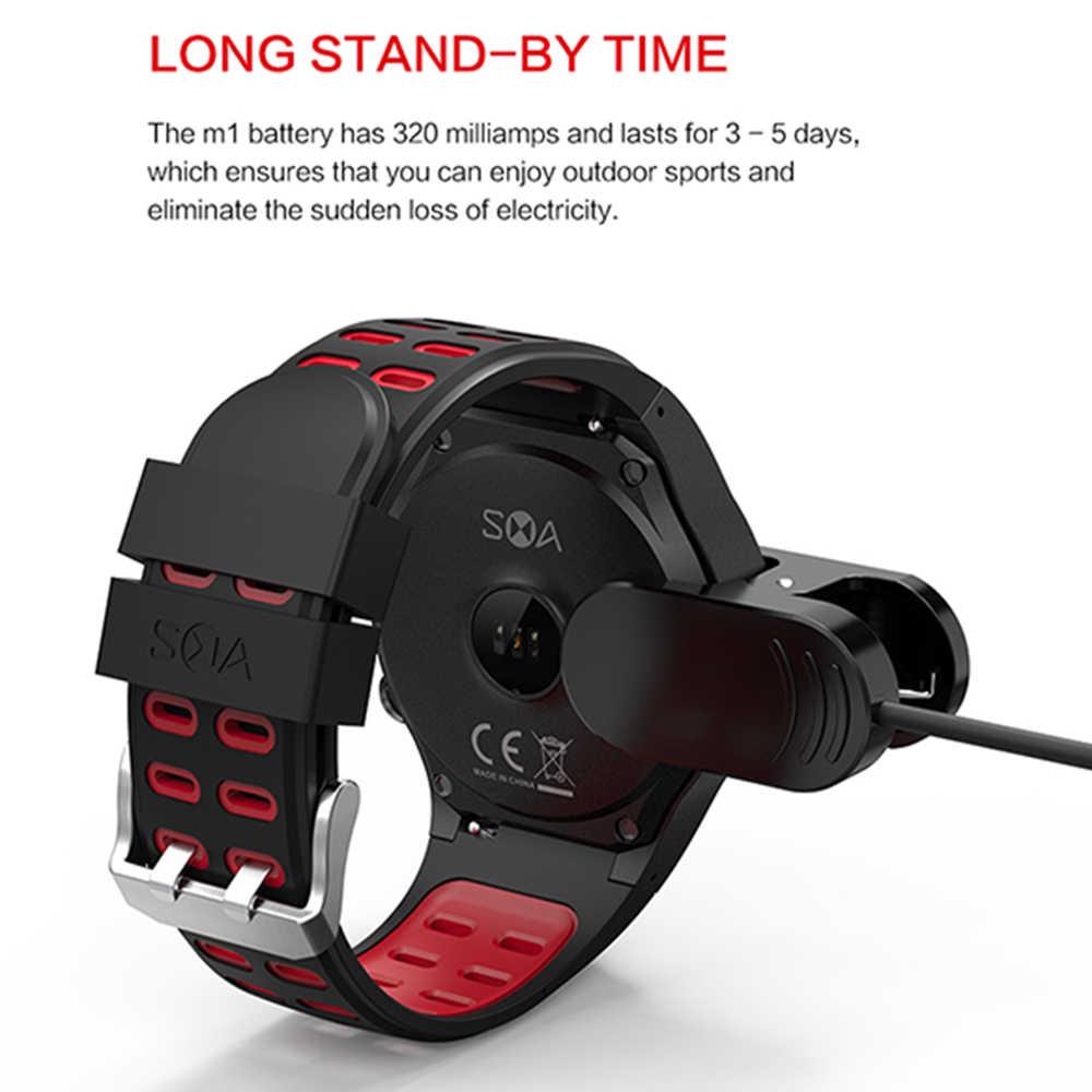 696 M1 Smart Watch Mendukung Kartu SIM Bluetooth Call Kompas GPS Watch IP67 Tahan Air Beberapa Olahraga Mode Siaga Panjang
