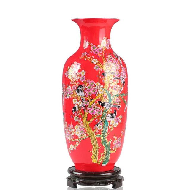 Jingdezhen Ceramicschina Red Vasered Porcelainmagpie Annunciation