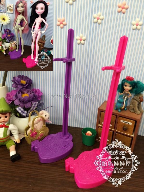 새로운 무료 배송 10pcs / lot 인형 스탠드 디스플레이 홀더 괴물 장난감 인형, 인형 지원