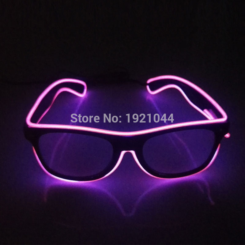 2017 Fashion Flashing EL Wire Led Glasses Luminous Party decorative Lighting Colorful Glowing Gift For Holiday Party Decoration