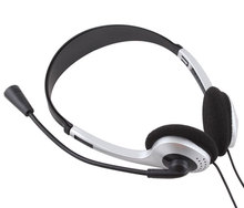 3.5mm Stereo Earphone Headband Headset Headphone With Microphone MIC VOIP Skype for PC Computer Laptop #21228